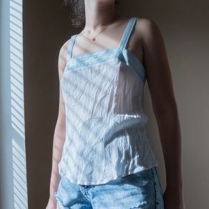 Flying Tomato Sheer Linen Tank Top